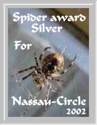 Silver Spider Award, customized for Nassau Circle!